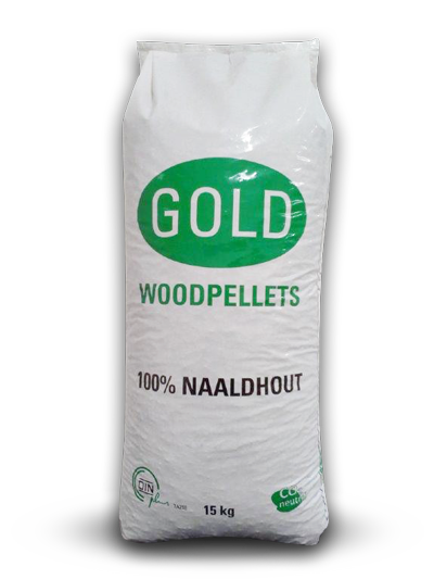 Gold Woodpellets wit